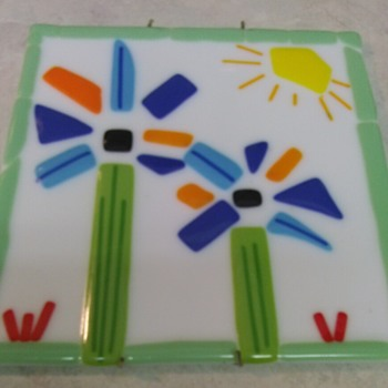 FUSED ART GLASS PICTURE TILE