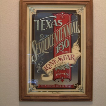 lone star beer mirror (limited addition) - Breweriana