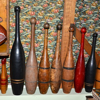 My collection of Indian Clubs and Skittles, etc... - Games