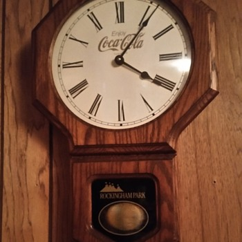 Coca-Cola clock from rockingham park