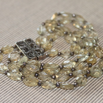 Crystal and Silver Bracelet - Fine Jewelry
