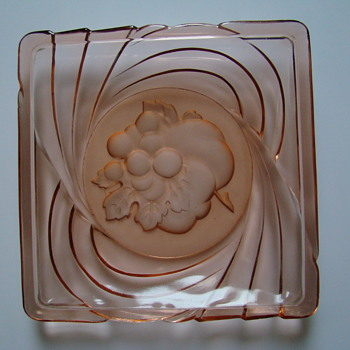 Pressed glass dish from S.Reich
