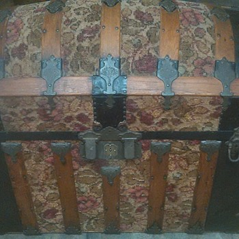 1885 Tapestry trunk I picked up in Venice Fl