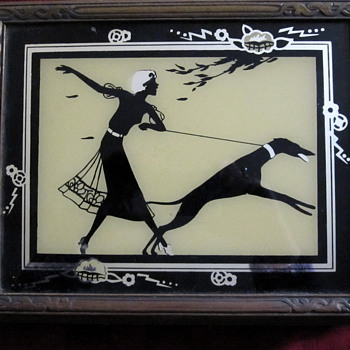 Art Deco silhouette jewelry box - Art Deco
