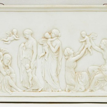 'Ages of Love' Relief, After Thorvaldsen (Bing & Grondahl, Denmark), 2nd Half of the 19th Century - Art Pottery