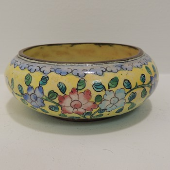 Chinese Enamel over Copper - Salt Cellar