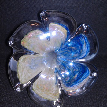 BEAUTIFUL MURANO HAND BLOWN ART GLASS FLOWER!!! - Art Glass