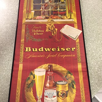 Budweiser Lithograph 1930-1940