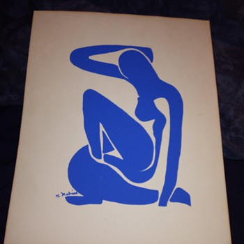 blue women by H.matine 1960's ?  - Posters and Prints