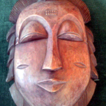 Handcrafted Ivory Coast wood face