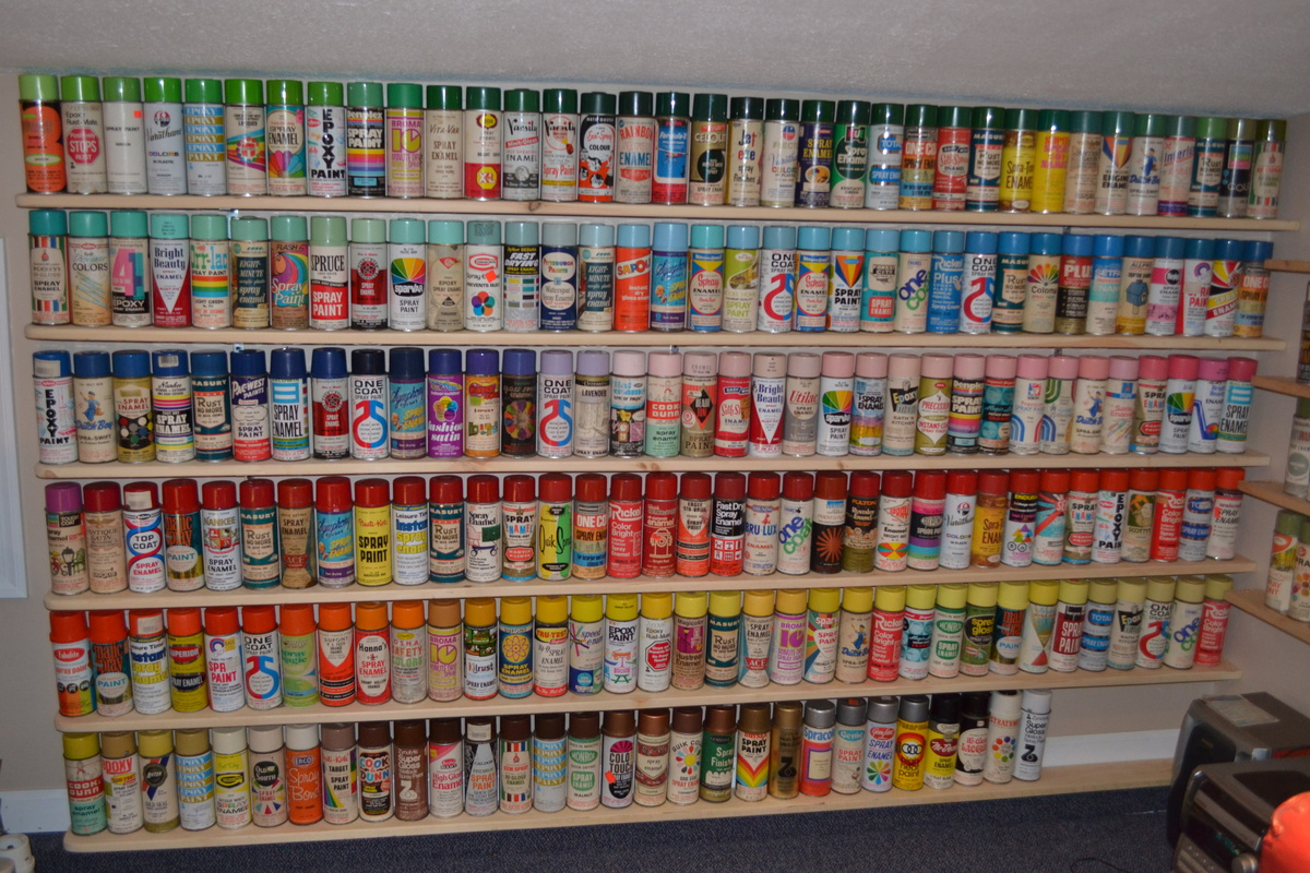 New Shelves For My Spray Paint Can Collection Collectors