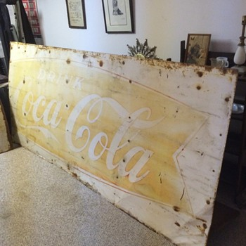 Huge metal Coca Cola Sign