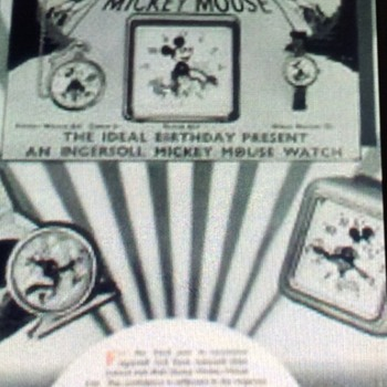 1930's English Ingersoll Mickey Mouse marketing/advertising  - Advertising