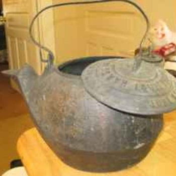 Hare Leaf & Co. Civil War Era Cast Iron Kettle dated June 23rd, 1863 #5