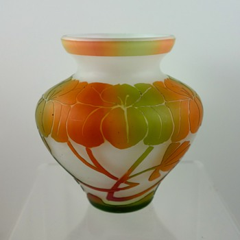 Beckmann & Weis Rainbow Cameo Glass vase, Dresden, ca. 1910-1920 - Art Glass