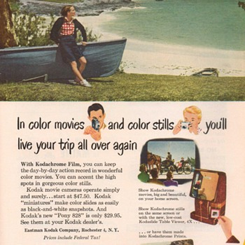 1951 - KodaChrome Film Advertisements