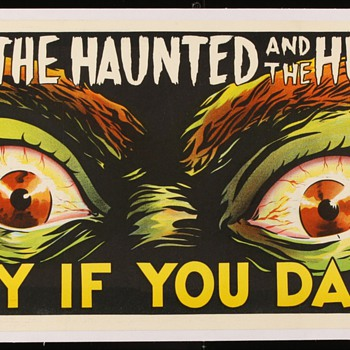 Original 1963 &quot;The Haunted and the Hunted&quot; Stone Lithograph