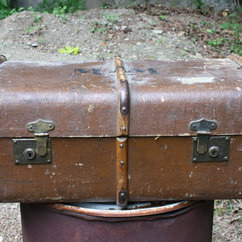 Bent Wood-Braced Suitcase