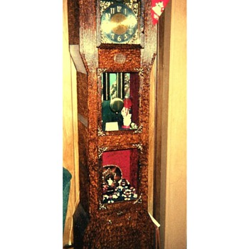 HANDMADE GRANDFATHER CLOCK FROM WYOMING STATE PENITENTUARY