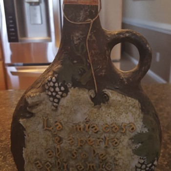 Old liquor bottlefrom Italy