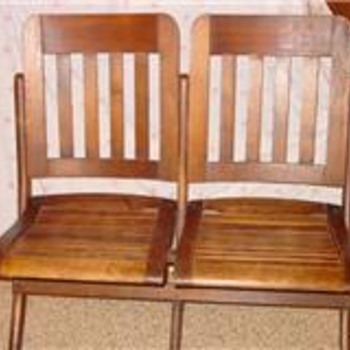 Double Wooden Folding Chair
