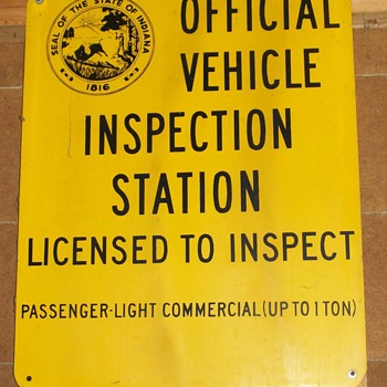 Remember vehicle inspections? - Signs