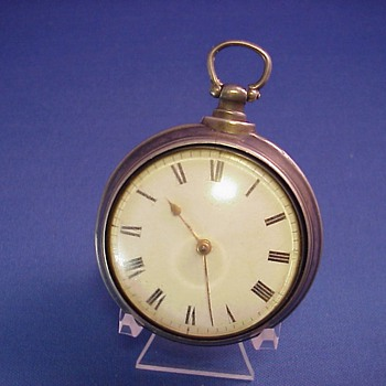 Early American Pair Case Fusee Pocket Watch Clark, Phila.