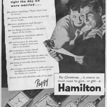 1953 - Hamilton Watch Advertisement