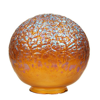 Loetz Phanomen 377 Shade in Orange - Art Nouveau
