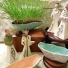 Kidney Shaped Pottery Planter, and other California Pottery