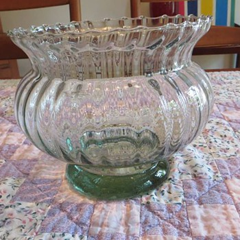 Green Glass Bowl- Vase