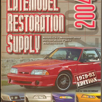 2004 Late Model Mustang Parts Catalog