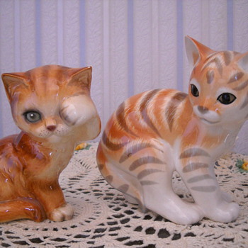GOEBEL CAT & RUSSIAN CAT FIGURINES
