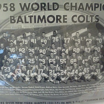 1958 World Champion Baltimore Colts Picture