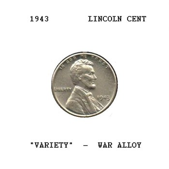 1943 - Lincoln Cent - War Alloy - US Coins