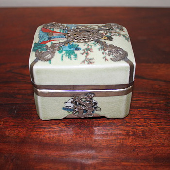 Small glazed box from Hong Kong