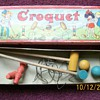 My Vintage tiny Croquet Set . Mallets 7.5&quot; Long 