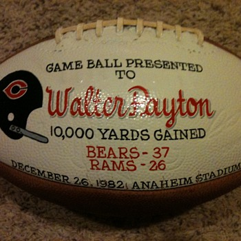 Walter Payton Football