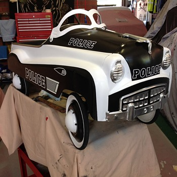 Police pedal car based on murray champion