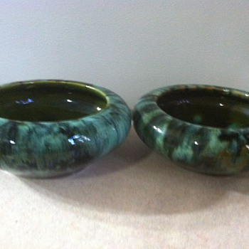 Brush McCoy Bulb Bowls - Art Pottery