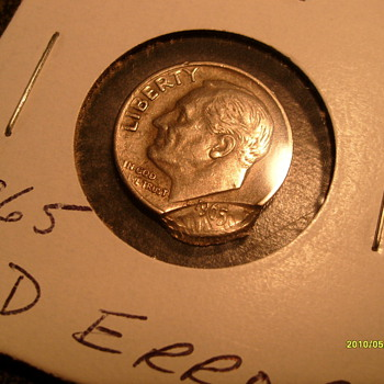 1965 Roosevelt Cud Dime - US Coins