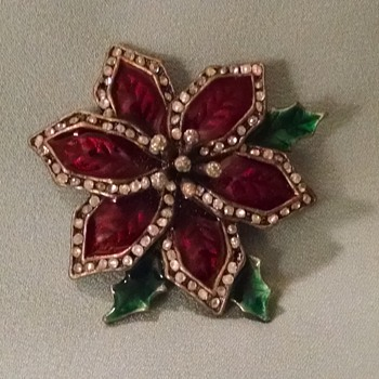Poinsettia Brooch Mystery Mark