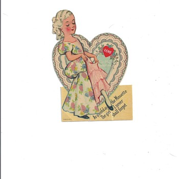 1920's  Valentine greeting stand up cards