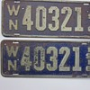 1916 Washington State license plates