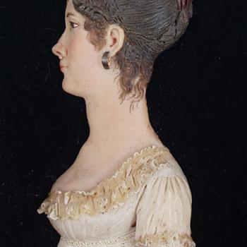 Mary Loring -- Wax Portrait Miniature - Visual Art