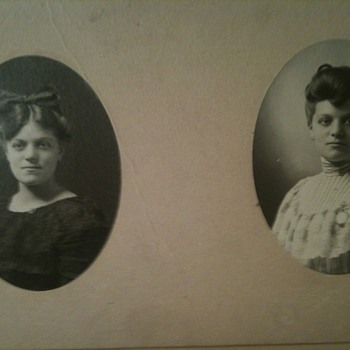 Card board  double photos of Sisters? 
