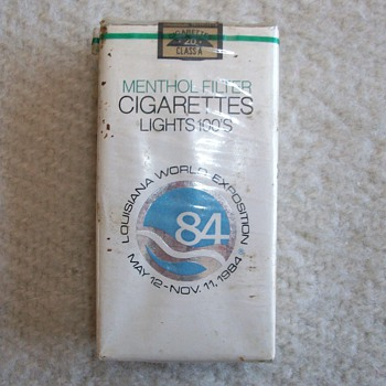 World's Fair Cigarettes From 1984