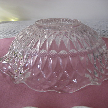 antique bowl and sugar bowl