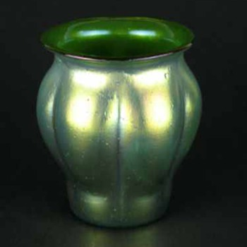 Loetz Crete Goldiris Vase - Art Glass