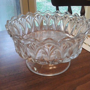 Unmarked 100 yr old dishes - Glassware